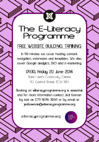 E-Literacy Programme Saint Luke's Community Centre June 2014