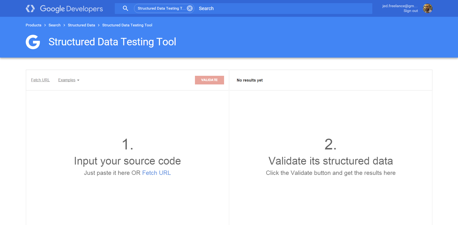 google structured data testing